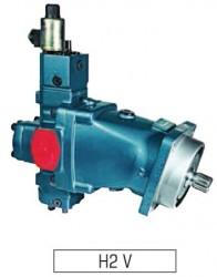 SAMHYDRAULIK - H2V 55 2EM+PE Elektrikli Oransal+Basınç Kontrol PİSTONLU MOTOR