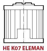 IKRON - HE K07-20.122 SP025 (25µm) HAT TİPİ EMİŞ VE DÖNÜŞ FİLTRE ELEMANI (HF 595)