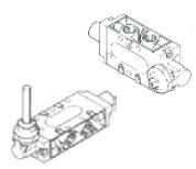 "UNIVER - CM-9402S Pim / Pim 1/4"" - 5/2 Popet Sistem Yumuşak Yaylı Mekanik Valf"
