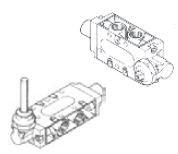 """UNIVER - CM-9423 Kol / Kol 1/4"""" - 5/2 Popet Sistem Yumuşak Yaylı Mekanik Valf"""