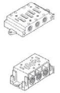 "UNIVER - BF-1061 ISO1 1/4"" BAĞLANTI PLEYTİ Tekli"