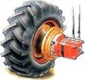 SAUER DANFOSS - 151F0521 OMSW 80 cc/d 32 mm Ağır Hizmet Teker Motoru - Silindirik Şaft
