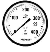 PAKKENS - 250 mm 250 310 PANO TİPİ ARKA BAĞLANTILI HİDROMETRE