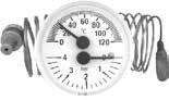 PAKKENS - 40 mm 040 702 1 mt. ARKA BAĞLANTILI PANO TİPİ KOMBİNE ÖLÇER (Termo-Manometre)