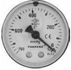 PAKKENS - 50 mm 050 200 ARKA BAĞLANTILI VAKUMETRE