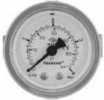 PAKKENS - 50 mm 050 200 PANO TİP ARKA BAĞLANTILI VAKUMETRE