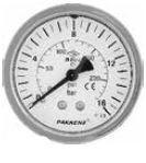 PAKKENS - 63 mm 063 100 PANO TİP ARKA BAĞLANTILI MANOMETRE