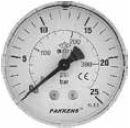 PAKKENS - 63 mm 063 200 ARKA BAĞLANTILI VAKUMETRE