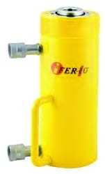 FERRO - CRSSHD60-165 Hidrolik Çift Etkili Ortası Boş Silindir 700 Bar 60 Ton 165 mm