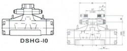 YUKEN - DSHG-1 0-3C*- 11/4Çiftbobin Elektrohidrolik Yön Denetim Valfi -Redresörlü
