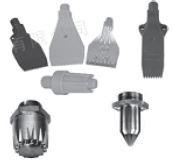 """CYCO - F-ABS Sarı 1/4"""" Plastik (ABS ) Hava Tarağı Sarı 40mm"""
