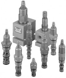EATON VICKERS - RV8-8-S-0-50 02-173238 C-8-2 Direkt Kumandalı emniyet valfı 30 lt/dak, 350 bar Açma basınç aralığı 70-350 bar, popet tip vida ayarlı