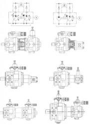 BERARMA - 4 PVS-PSP-PHC 1 2 Dişli Pompa ÇEK VALFLİ SAE BASINÇ FLANŞI