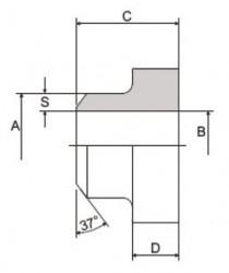 CIOCCA - C104-ST-FF 1 1/4