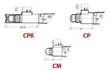 DUPLOMATIC OLEODINAMICA - CP-DS3/10 D.C. 3401150005 DC (CETOP 3) NG 6 BOBİNLİ YÖN KONTROL VALFLERİ BASMA BUTONU
