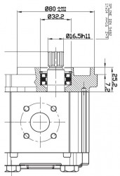OT OIL TECHNOLOGY - OT 200 P06 6,2 OT 200 SERİSİ S/B 25-B5 MİL VE KAPAK TİPLİ DİŞLİ POMPA