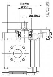 OT OIL TECHNOLOGY - OT 200 P08 8,2 OT 200 SERİSİ S/B 25-B5 MİL VE KAPAK TİPLİ DİŞLİ POMPA
