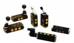 WAIRCOM - EKCA 4/T Düğme Yay EK 5/2 Pnömatik Valf