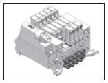 UNIVER - P10SB404 4 mm Rakorlu Çiftli Pleyt DAHİLİ MULTİPİN SOKETLİ VALF BAĞLANTI PLEYTİ (Çıkış Havası Pleytten)
