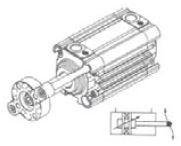 UNIMET - 300 Ø50 RS210 ISO Standart Strong Seri ISO 6431 KOMPAKT YATAKLI SİLİNDİR