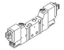 MINDMAN - MVSY-100M-4E1-DC24 M5 5/2 T.B. Pleyt Çık. Valf MVSF – MVSY Serileri M3 – M5 Ölçülü 3/2 – 5/2 – 5/3 Selenoid Valf