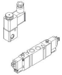 MINDMAN - MVDC-220-3E1 1/8'' 3/2 Modüler Pilot Valf MVSD – MVSY – MVSG Serileri 1/8'' Ölçülü 3/2 – 5/2 – 5/3 Selenoid Valf