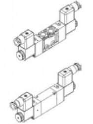 MINDMAN - MVSC-220-4E1M 1/4'' 5/2 T.B. Pleyt Çıkışlı MVSC – MVSY Serileri 1/4'' Ölçülü 3/2 – 5/2 – 5/3 Selenoid Valf
