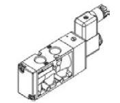 MINDMAN - MVSC-300-4E1 3/8'' 5/2 Tek Bobinli Valf MVSC Serileri 3/8'' Ölçülü 3/2 – 5/2 – 5/3 Selenoid Valf