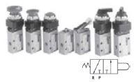 """MINDMAN - MVMC-210-3PB-8A-22 1/4""""-3/2 MANTAR BUTON MEKANİK KUMANDALI VALF"""